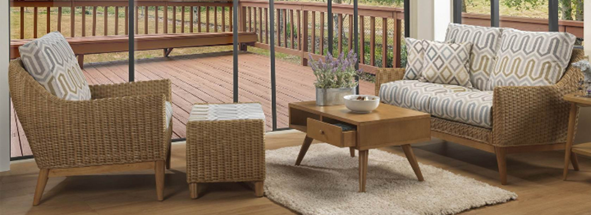Camden Rattan Range In Light Oak Harpers Furniture