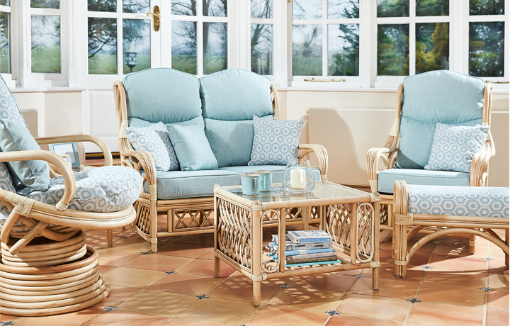 Cane Furniture - Only at Stonham Barns - Daro - Parma Range in Light Natural Wash