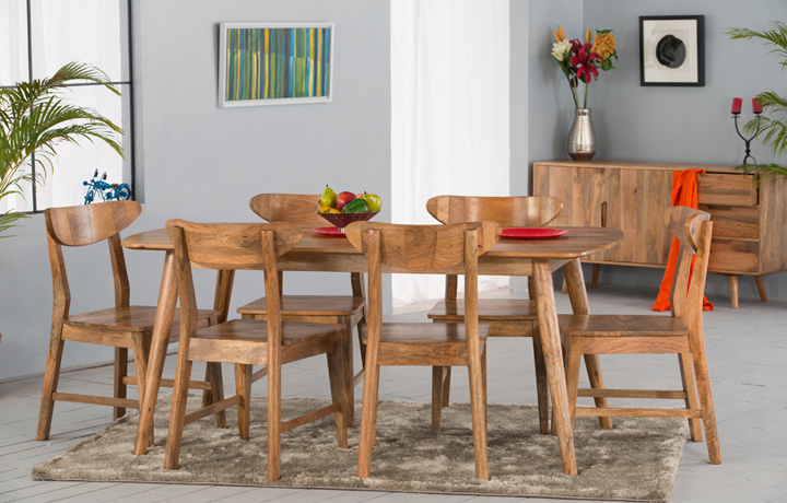 Oak Furniture Collections - Malmo Solid Mango Wood