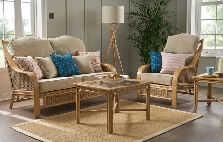 Cane Furniture - Only at Stonham Barns - Daro - Heathfield Range in Natural Wash