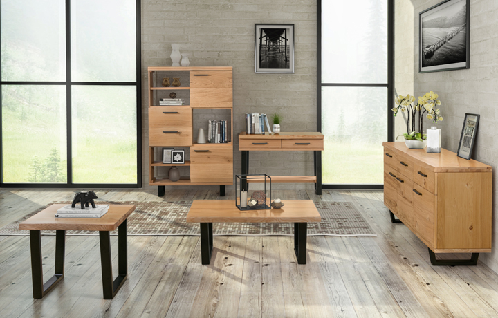 Oak Furniture Collections - Rivers Oak Industrial Collection