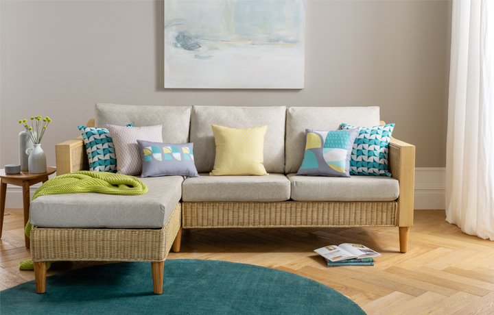 Cane Furniture - Only at Stonham Barns - Daro - Elgin Chaise Sofa Collection