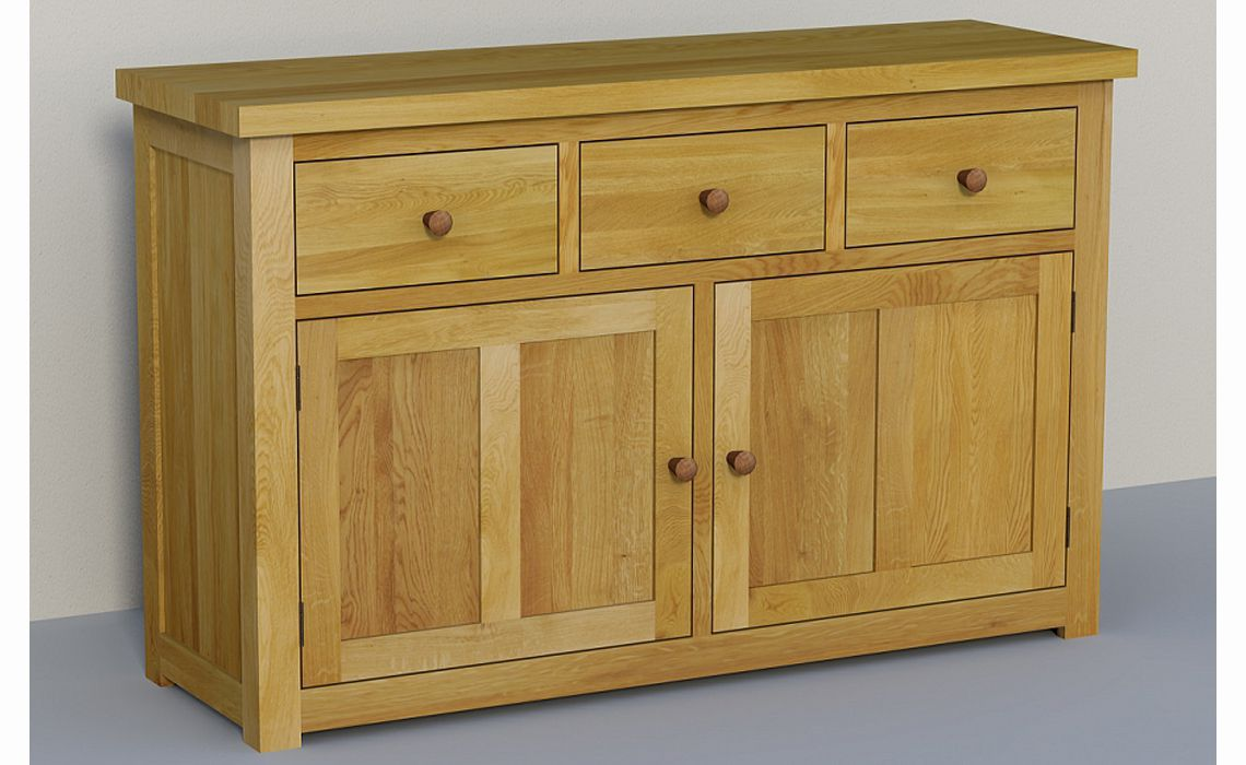 classic solid oak sideboard 140cm dresser base high. Black Bedroom Furniture Sets. Home Design Ideas