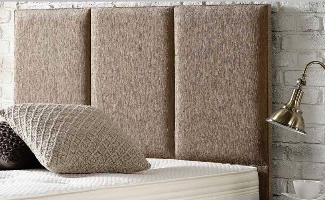 3 Panel Upholstered Headboard Plain Faux Suede Or Plain Chenille Beds Mattresses Sofas Furniture Ipswich Suffolk Uk