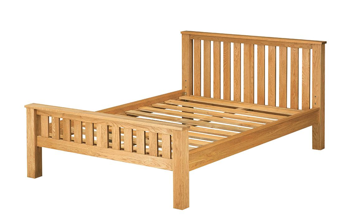 3ft Norfolk Rustic Solid Oak Single Bed Frame, Solid