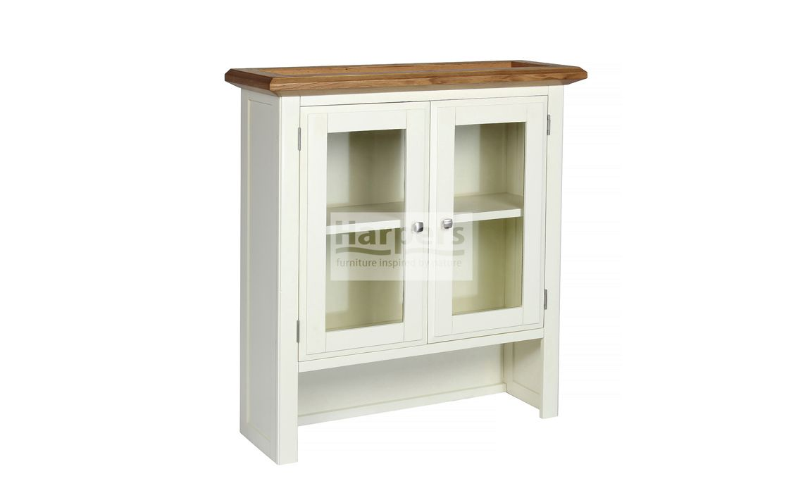 Kent Cream Painted Small Glass Door Sideboard Top Painted With Oak