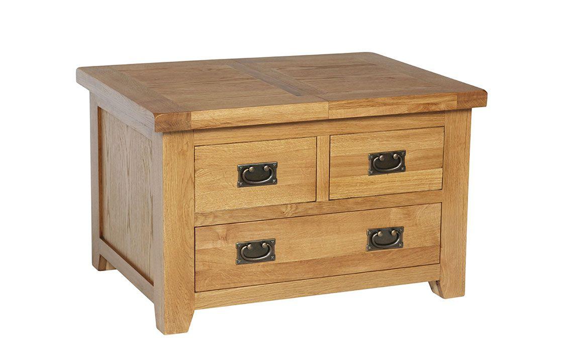Essex Rustic Oak Small Storage Coffee Table