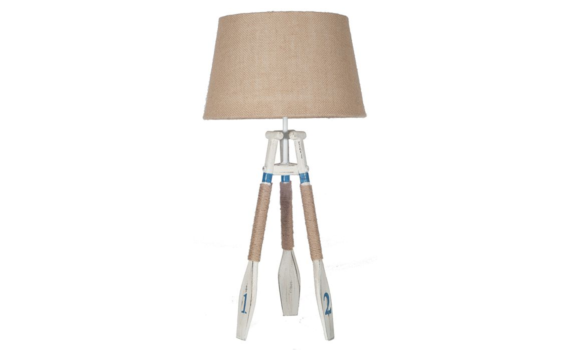 Pll149 Nautical Tripod Oar Table Lamp 30 230 C Clearance Disc Wood Beds Mattresses Sofas Furniture Ipswich Suffolk Uk