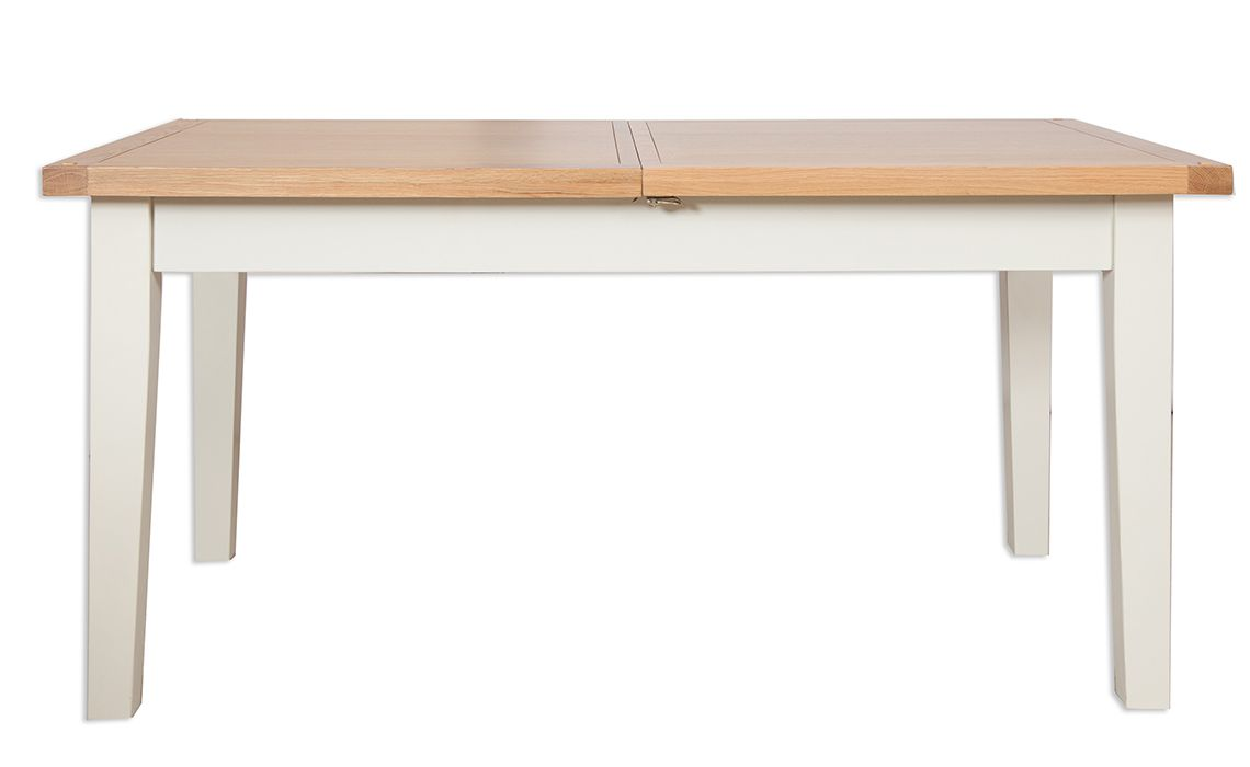 Chelsworth ivory 120cm extending dining table made from for 120cm extending dining table