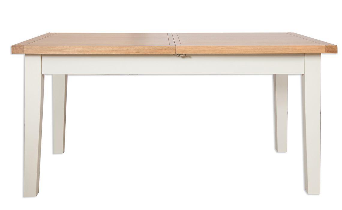 Chelsworth ivory 120cm extending dining table made from for 120cm extending dining table