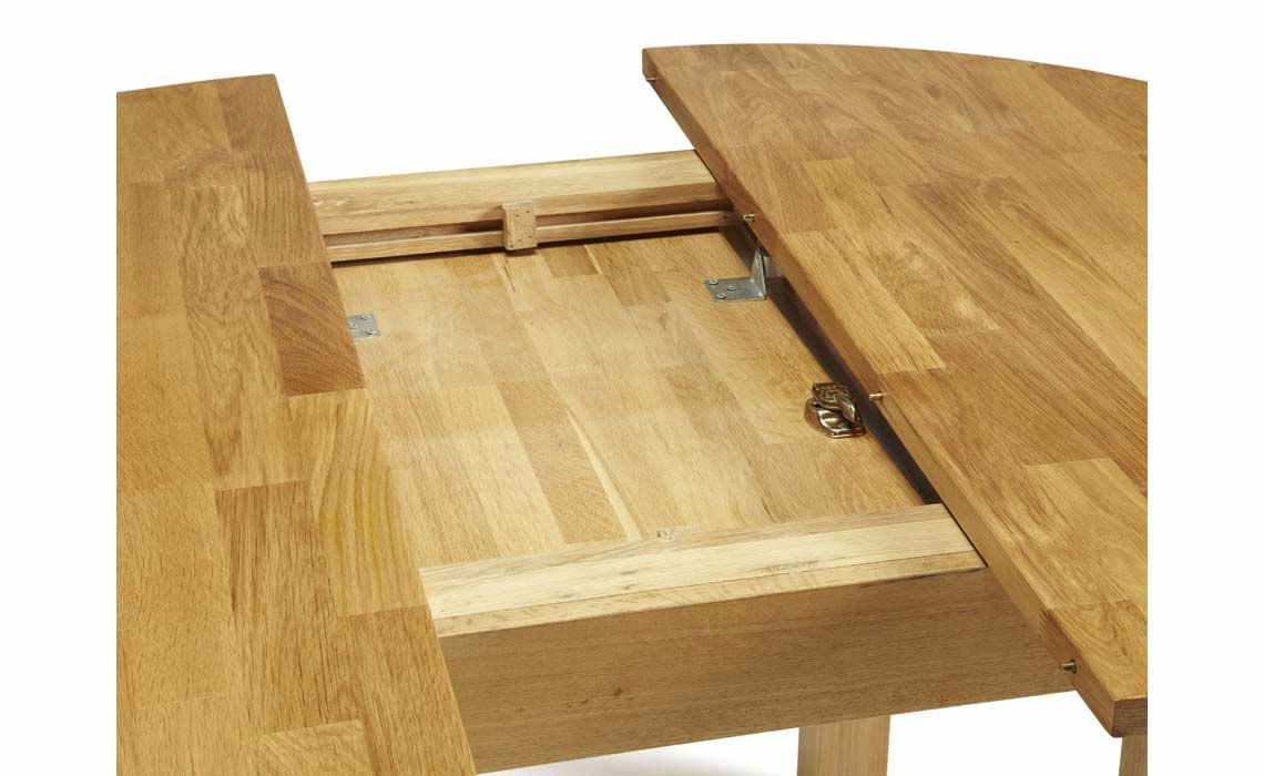 Kensington Solid Oak Round Extending Dining Table Solid Oak