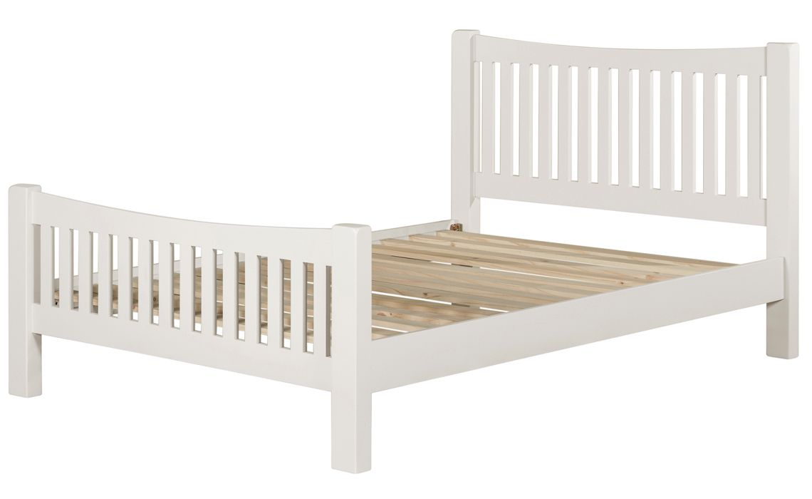 5ft Wexford White Painted King Size Bed Frame, Painted hardwood ...