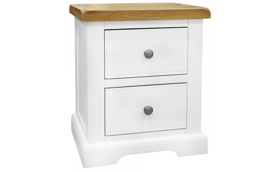 Suffolk Painted 2 Drawer Bedside Solid Engineered Oak Top With Hardwood Base Beds Mattresses Sofas Furniture Ipswich Suffolk Uk