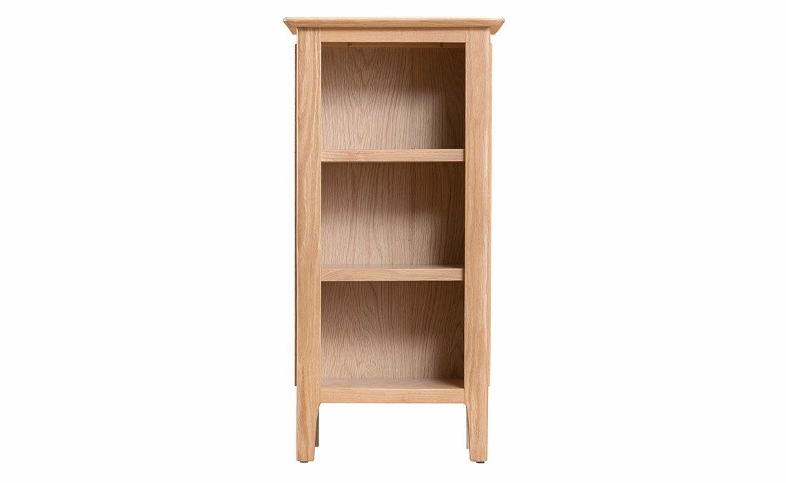 Odense Oak Small Narrow Bookcase