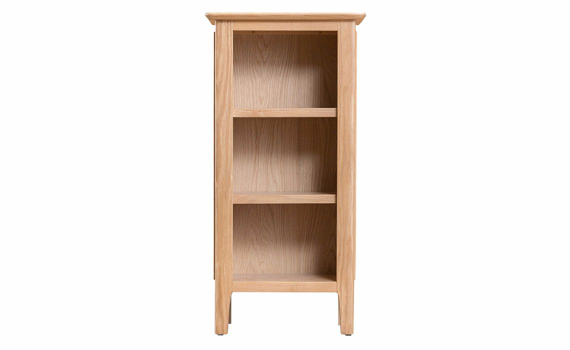 odense oak small narrow bookcase oak suffolk essex norfolk harpers furniture