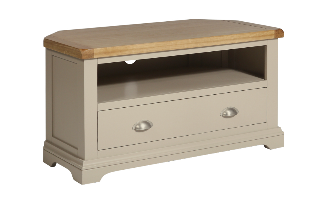 sports shoes 88128 a6758 Henley Truffle Painted Corner TV Cabinet