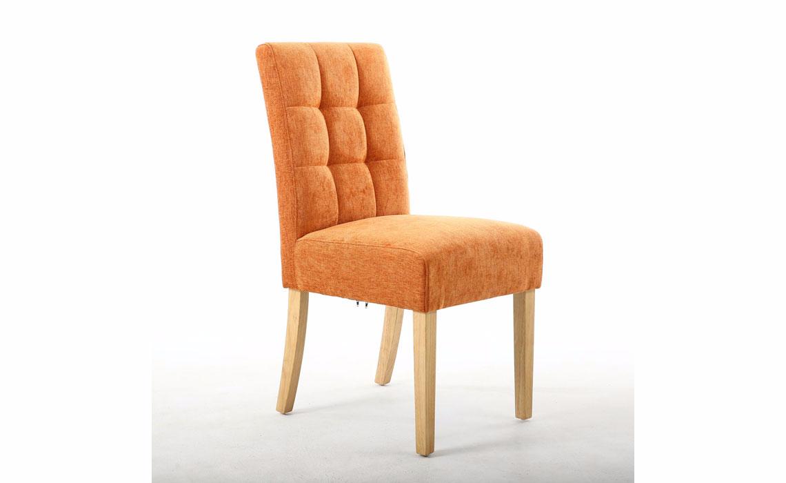 Kansas Burnt Orange Dining Chair With Oak Legs 100 Polyester Beds Mattresses Sofas Furniture Ipswich Suffolk Uk