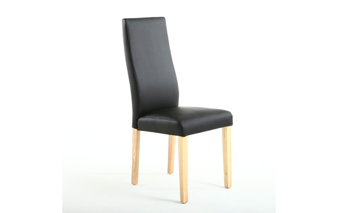 Awe Inspiring Holborn Matt Leather Effect Black Dining Chair Gamerscity Chair Design For Home Gamerscityorg