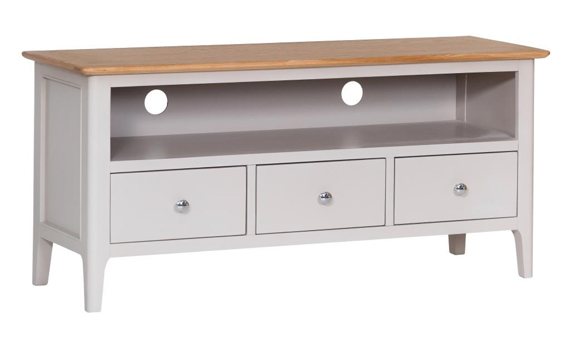 Excellent Odense Stone Painted Large Tv Cabinet With 3 Drawers Download Free Architecture Designs Grimeyleaguecom