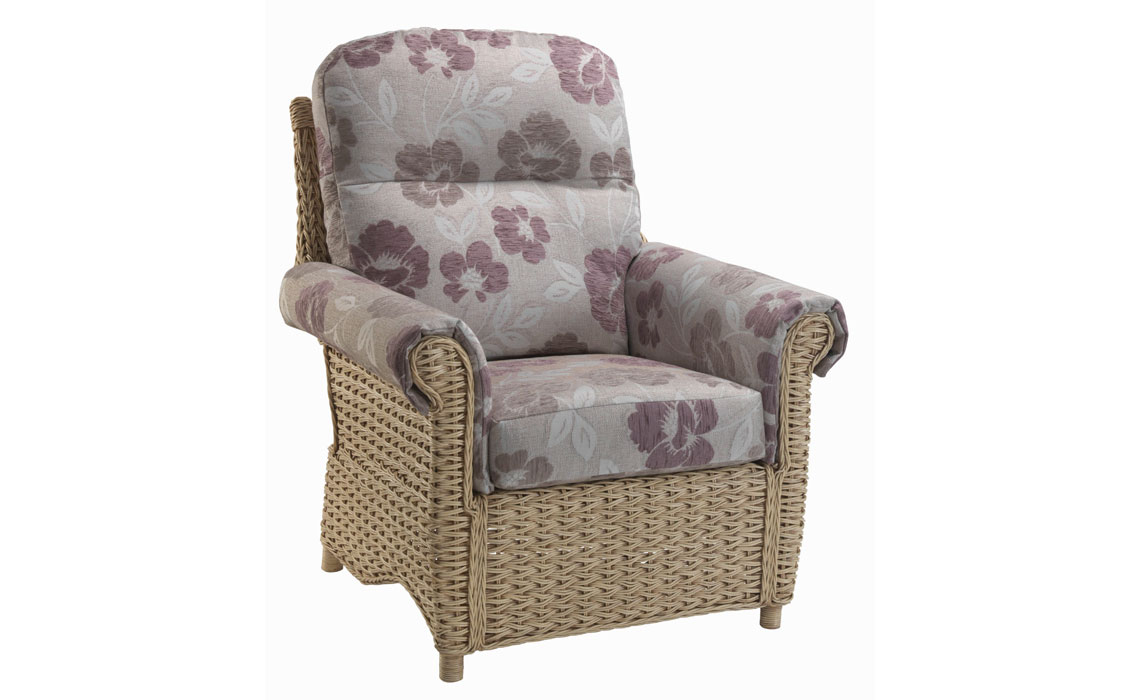 Harlow Chair In Natural Wash Cane Rattan Beds