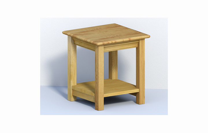 coffee-tables - Chambery Oak - Living - Table - Small Lamp Table