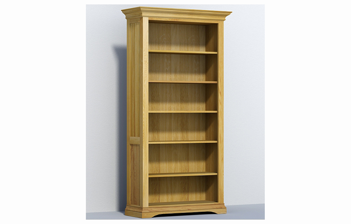bookcases - Chambery Oak - Living - Bookcase - Tall Deep Open Unit