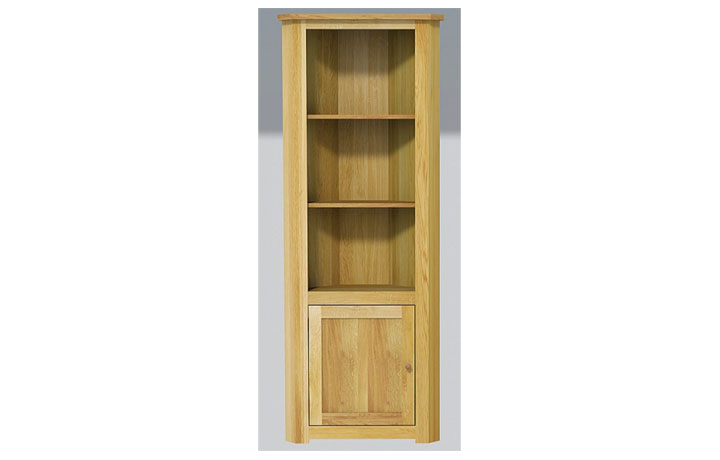 bookcases - Classic Oak - Living - Cabinet - Open Corner Unit  (40mm)