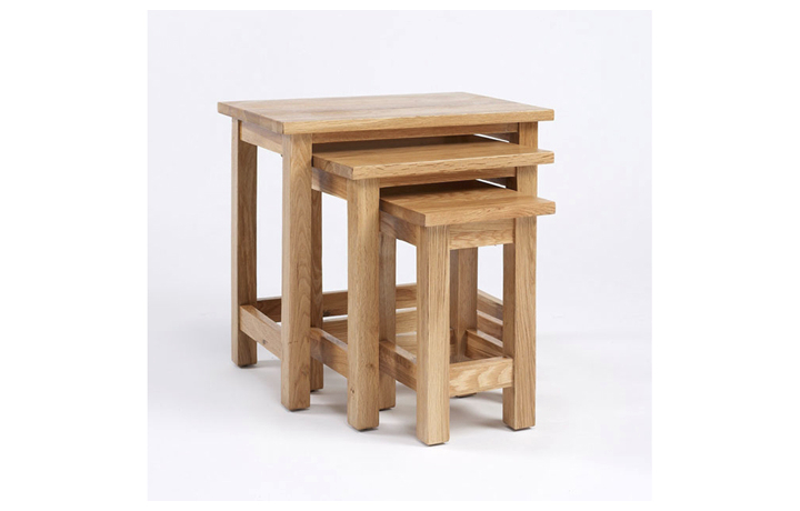 Pacific Oak Furniture Range (Web Exclusive) - Pacific Oak Nest of Three Tables