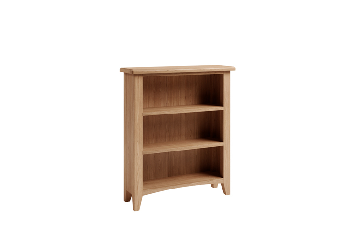 Bookcases - Columbus Oak Small Wide Bookcase