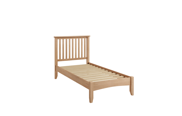 Beds & Bed Frames - Columbus Oak 3ft Single Bed Frame