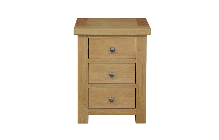 Suffolk Solid Oak Furniture Range - Suffolk Solid Oak 3 Drawer Large Bedside