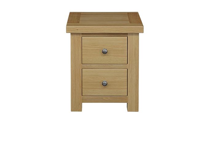 Suffolk Solid Oak Furniture Range - Suffolk Solid Oak 2 Drawer Bedside