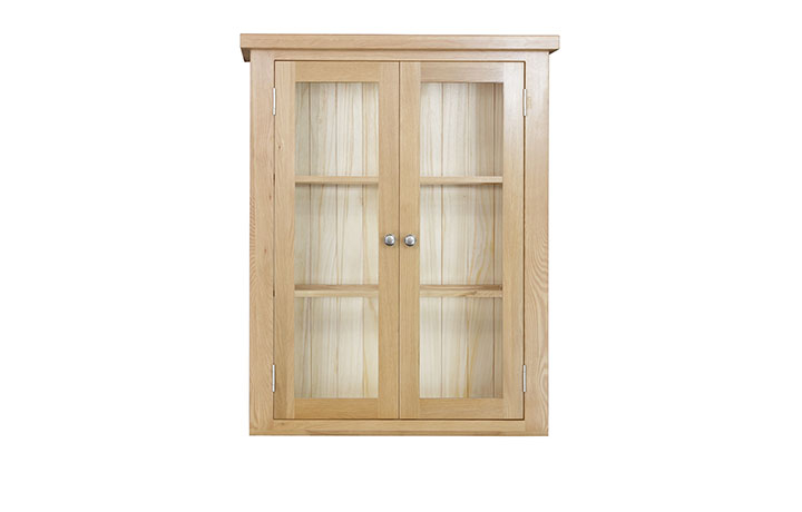 Dressers - Suffolk Solid Oak 90cm Glazed Dresser Top