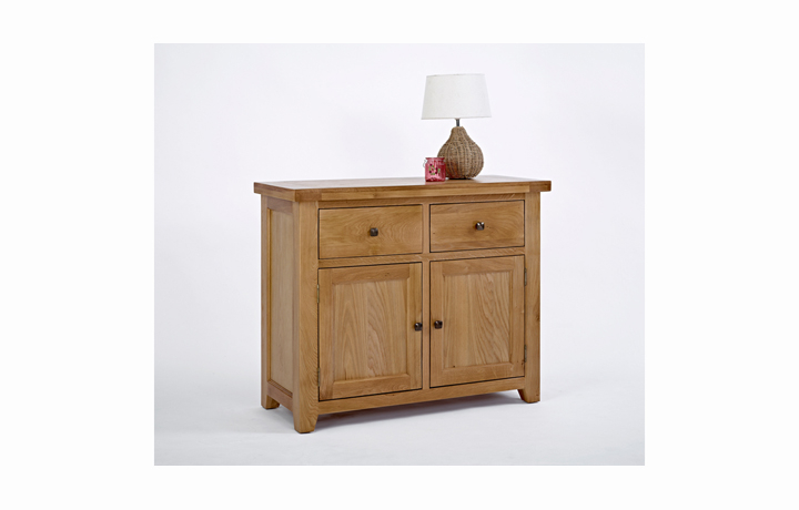 Devon Oak Furniture Range (Web Exclusive) - Devon Oak 2 Door 2 Drawer Sideboard