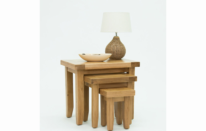 Nested Tables - Devon Oak Nest of Tables