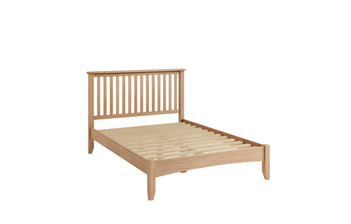 Beds & Bed Frames - Columbus Oak 4ft6 Double Bed Frame