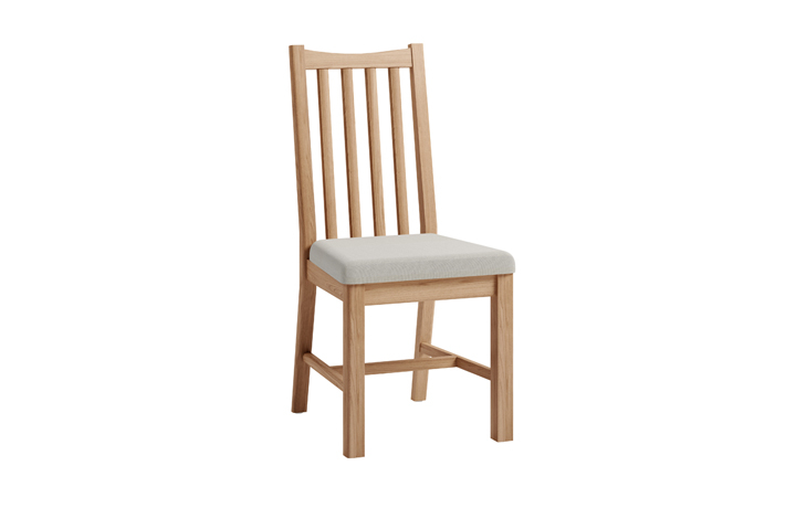 Chairs & Bar Stools - Columbus Oak Dining Chair with Pad