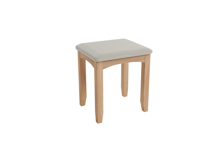 Dressing Tables & Stools - Columbus Oak Dressing Stool