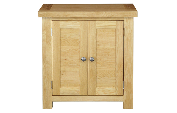 Suffolk Solid Oak Furniture Range - Suffolk Solid Oak Small 2 Door Cabinet (720)