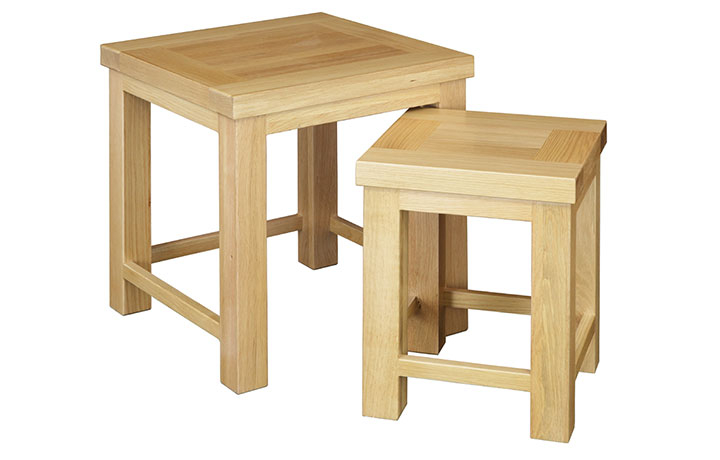 Suffolk Solid Oak Furniture Range - Suffolk Solid Oak Nest of 2 Tables