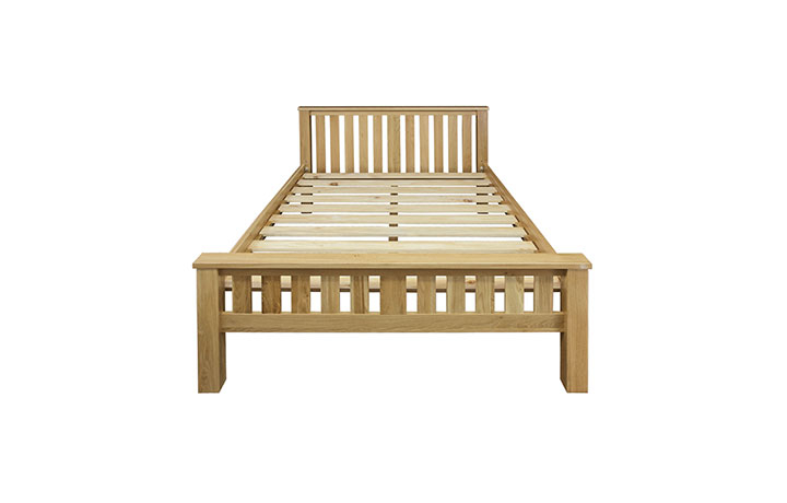 Bed Frames - 4ft6in Suffolk Solid Oak High End Double Frame