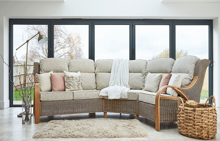 Daro - Waterford Modular Range in Natural Wash - Waterford Corner Set - Right Seat Sofa