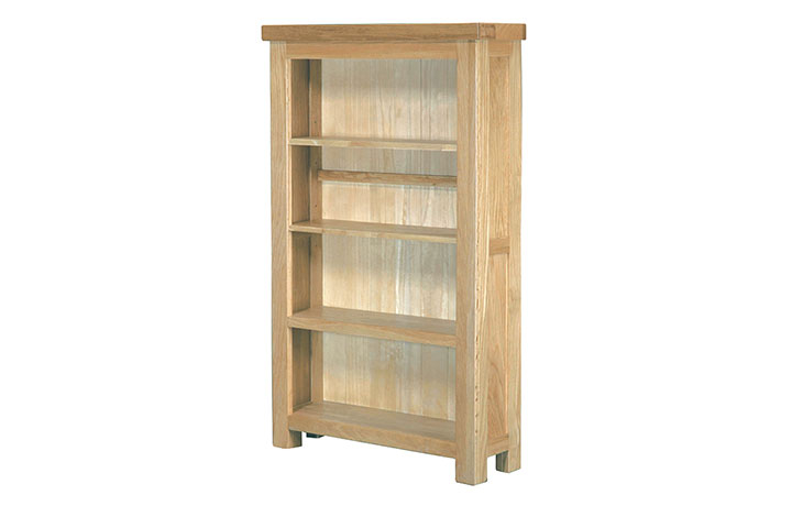 Suffolk Solid Oak Furniture Range - Suffolk Solid Oak 4ftx2ft Paper Back Bookcase