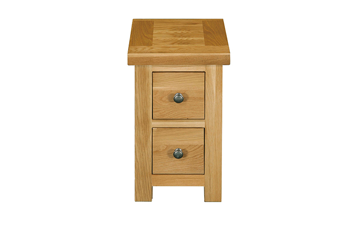 Suffolk Solid Oak Furniture Range - Suffolk Solid Oak 2 Drawer Compact CD Bedside