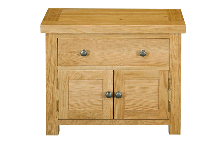 Suffolk Solid Oak Furniture Range - Suffolk Solid Oak 1 Drawer 2 Door Mini Chest