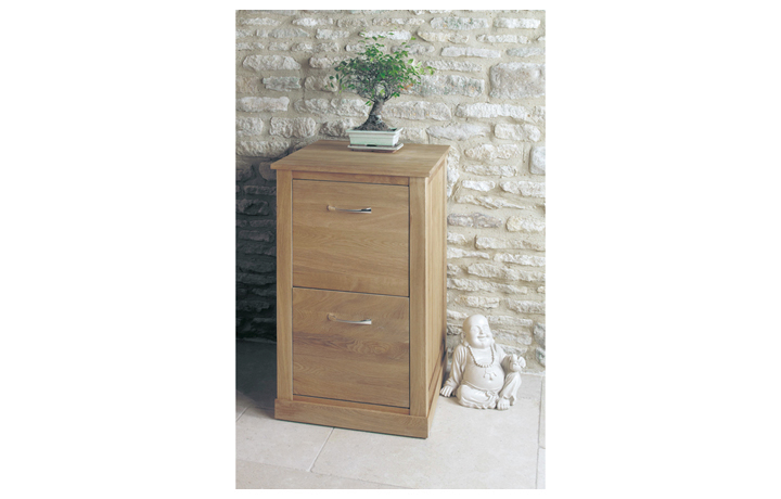 Office Furniture - Home & Office Oak  Two Drawer Filing Cabinet