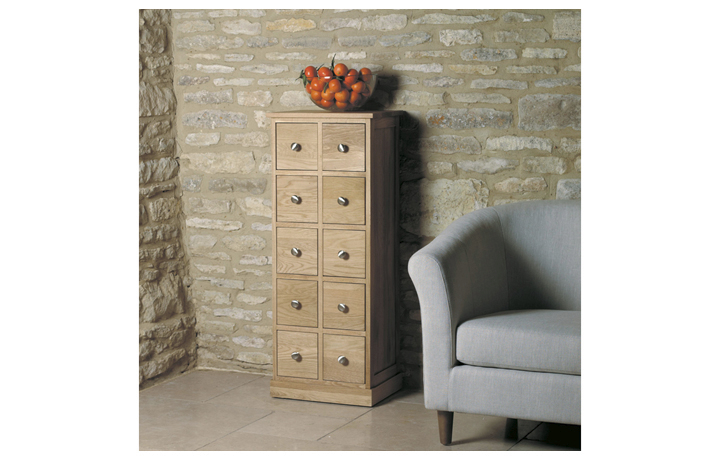 Office Furniture - Home & Office Oak  Multi-Drawer DVD / CD Storage Chest