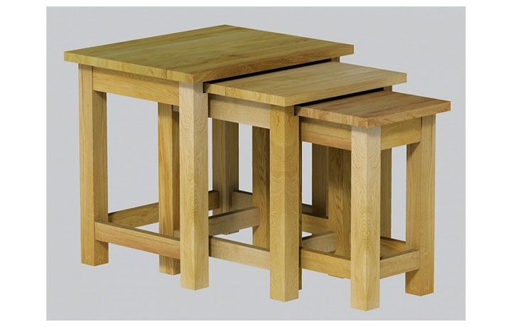 Nested Tables - Classic Oak Lacquered - Living - Table - Nest of 3 Tables (25mm Top)