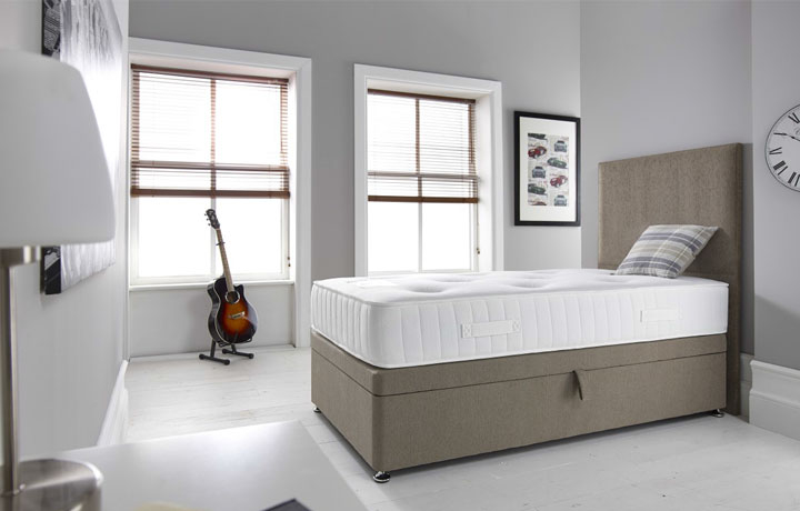 3ft Single Mattress & Divan Bases - 3ft Single Bliss 1000 Pocket Soft Tufted Mattress