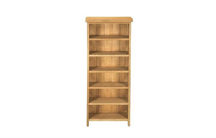 bookcases - Norfolk Rustic Solid Oak Cupboard - CD Unit